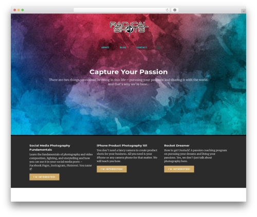 Rayne Layers Blog Theme WordPress video theme - radicalshots.com