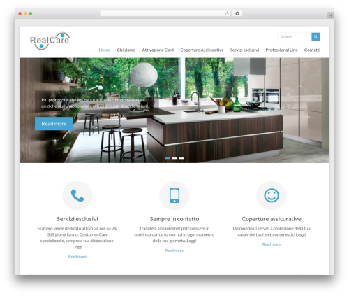 Spacious best free WordPress theme - realcare.it