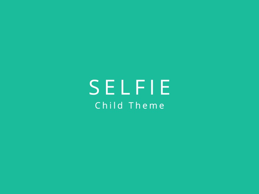 wordpress template selfie child by profteam