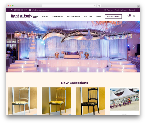 WordPress website template Moon Shop - rentapartyng.com