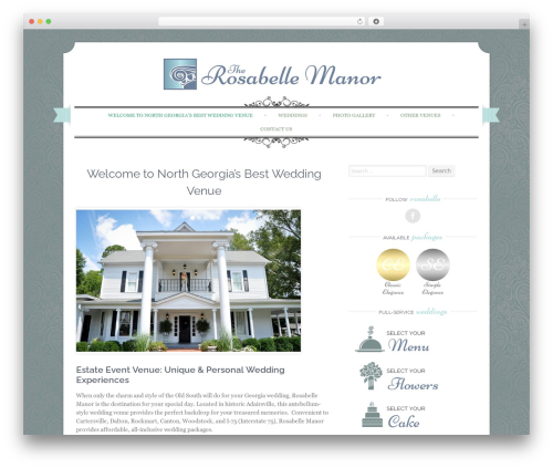 Best WordPress template Sugar and Spice - rosabellemanor.com