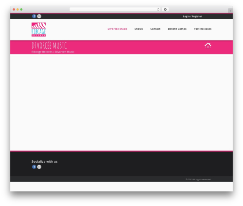 Best WordPress theme Musica - ribcagerecords.com