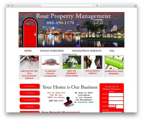 Catalyst real estate WordPress theme - rosepropertymanagement.com
