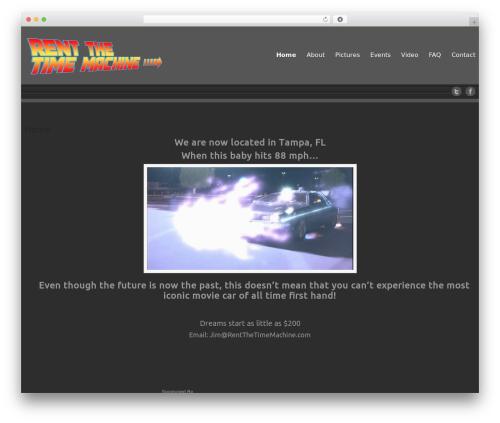 Celestial - Lite best free WordPress theme - rentthetimemachine.com