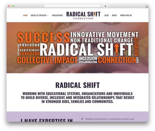 Divi WordPress website template - radicalshiftconsulting.com