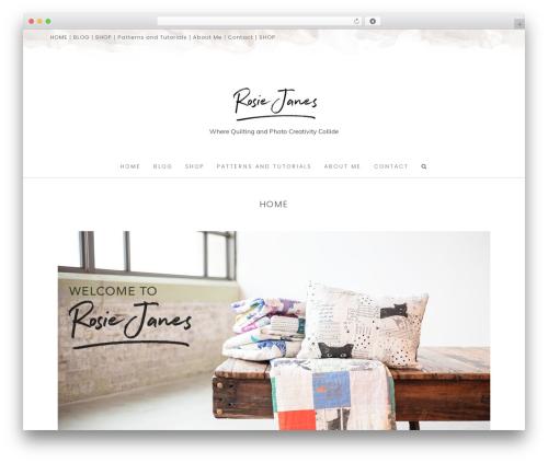 Hallie - Premium top WordPress theme - rosiejanes.com
