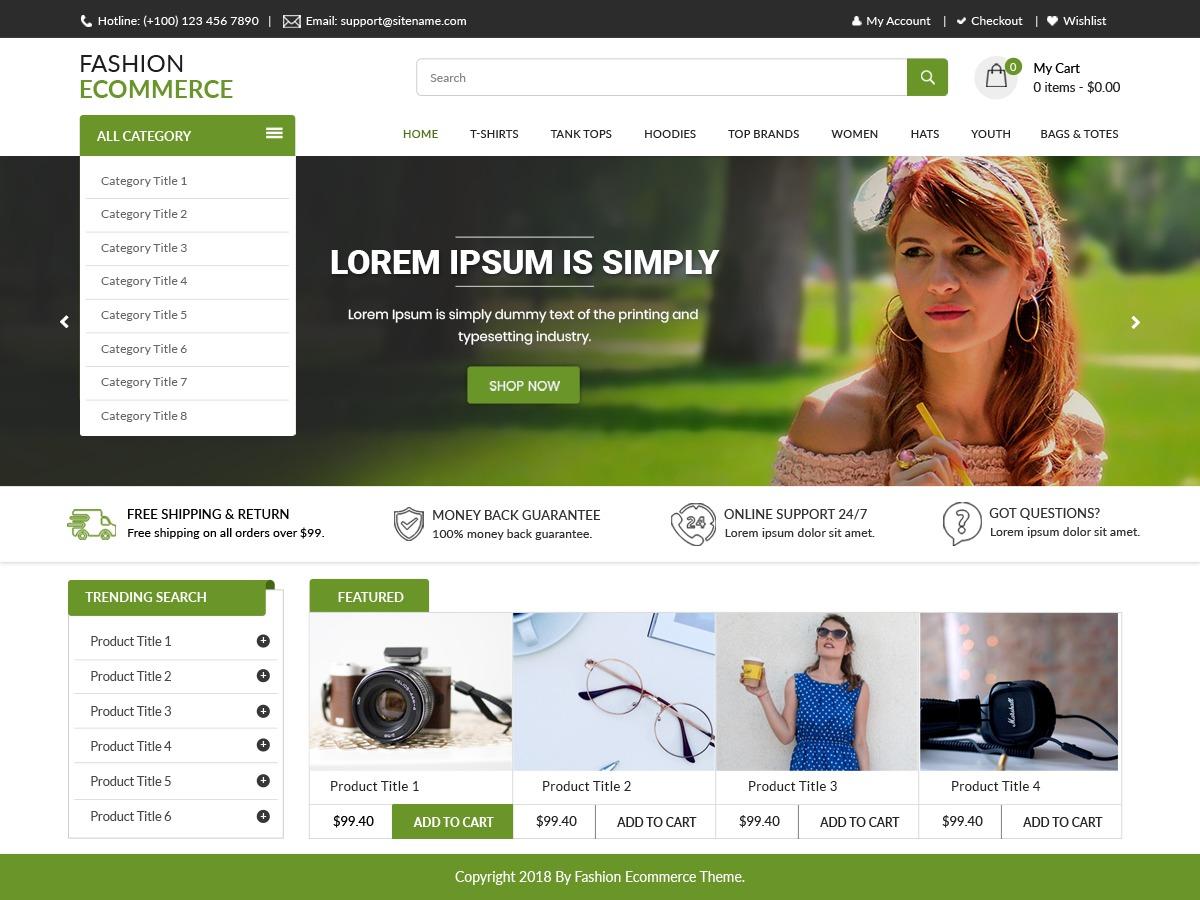 LZ Fashion Ecommerce WordPress shop theme