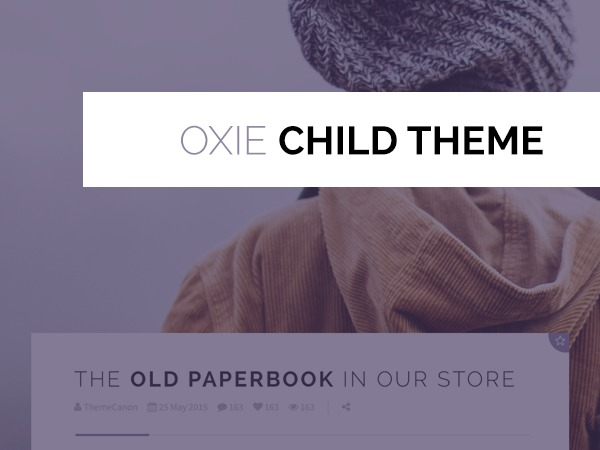 Oxie Child Theme WordPress template