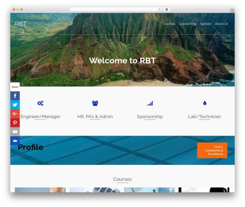 Pinnacle WordPress theme - rbttraining.co.za