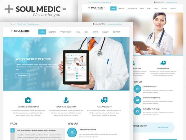 Soulmedic (shared on wplocker.com) medical WordPress theme