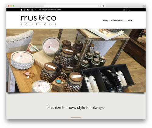 The Retailer WordPress website template - rrus.co