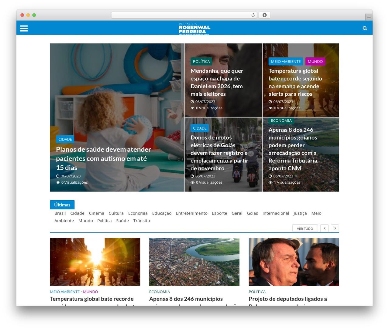 Theme WordPress Herald - rosenwalferreira.com.br
