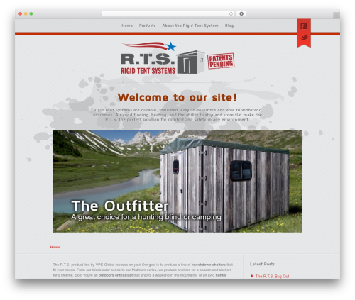 Visage for Rigid Tent Systems WordPress website template - rigidtentsystems.com
