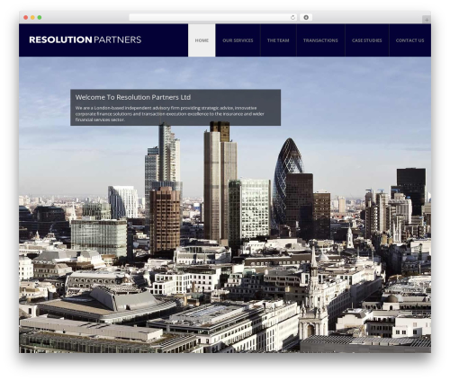 Modern Interior WordPress page template by mad_dog