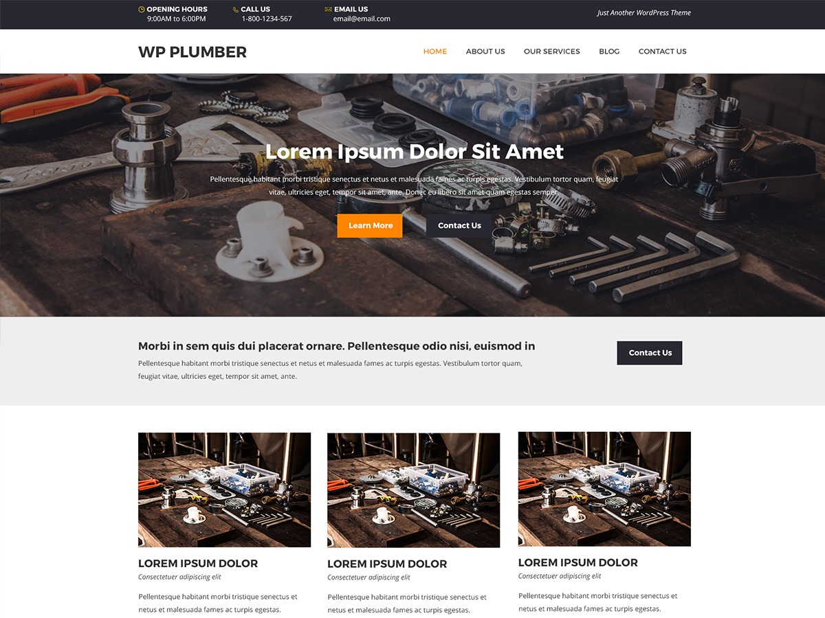 WP Plumber WordPress template free
