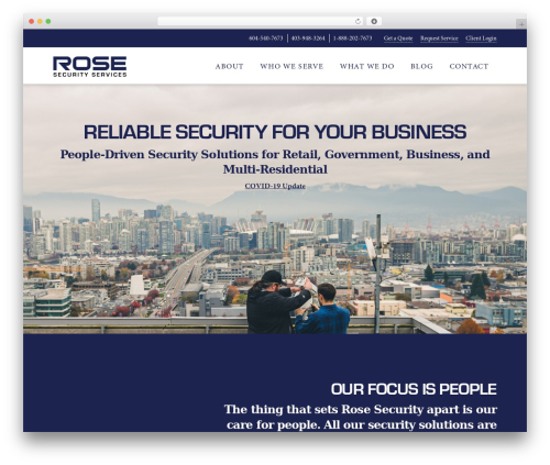 X company WordPress theme - rosesecurity.com