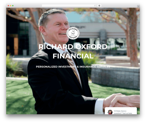Akin WordPress template for business - richardoxfordfinancial.com