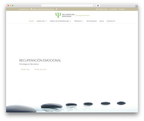 Best WordPress template Divi - recuperacionemocional.com