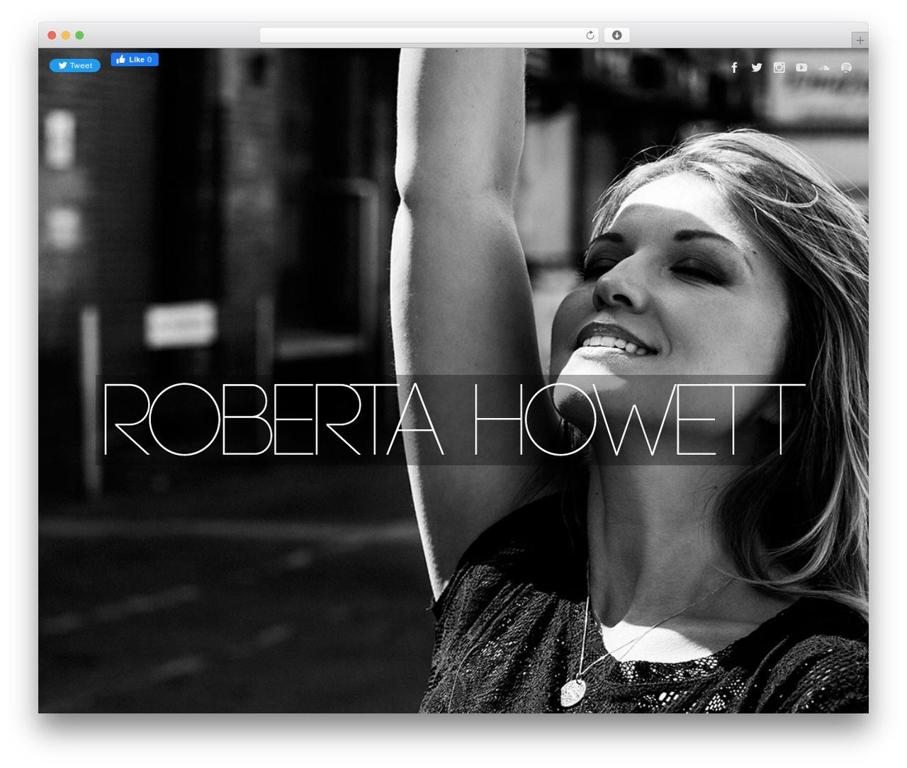 Best WordPress theme Speaker - robertahowett.com