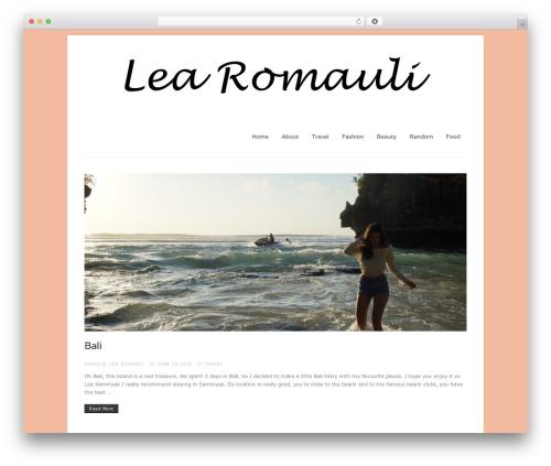 Construct WordPress template - romauli.com