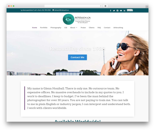Divi WordPress theme - retouch.ca