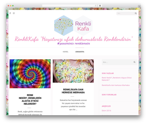 Elegant Pink WordPress theme design - renklikafa.com