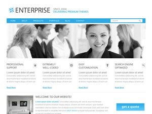 Enterprise theme WordPress portfolio