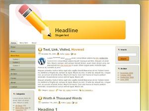 Pencil For Kids WordPress theme