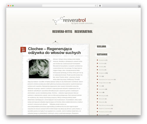 PersonalPress WordPress theme - resveratrol-resweratrol.pl