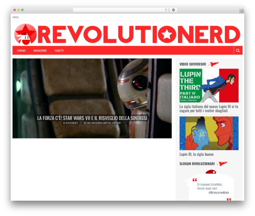 Resolution WordPress theme - revolutionerd.com