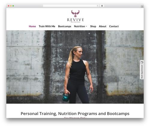 Divi gym WordPress theme - revivetruewellness.com