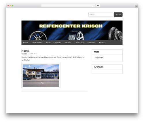 Gridiculous WordPress theme design - reifencenter-krisch.com