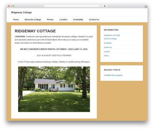 Responsive theme WordPress free - ridgewaycottage.ca