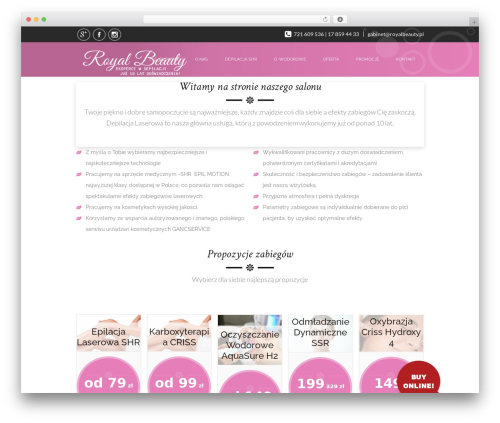 SpaLab premium WordPress theme - royalbeauty.com.pl