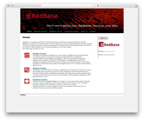 TwentyTen Child business WordPress theme - redbase.sk