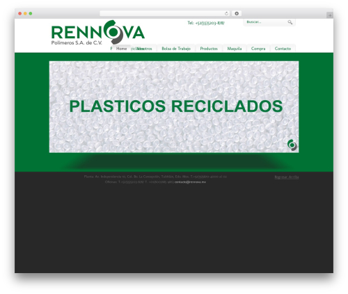 WordPress website template pureVISION - rennova.com.mx