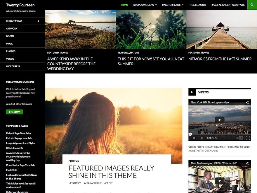 2014 Child Theme WordPress theme