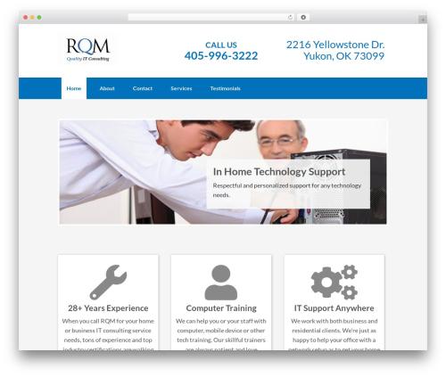 Best WordPress theme Genesis - rqmconsulting.com