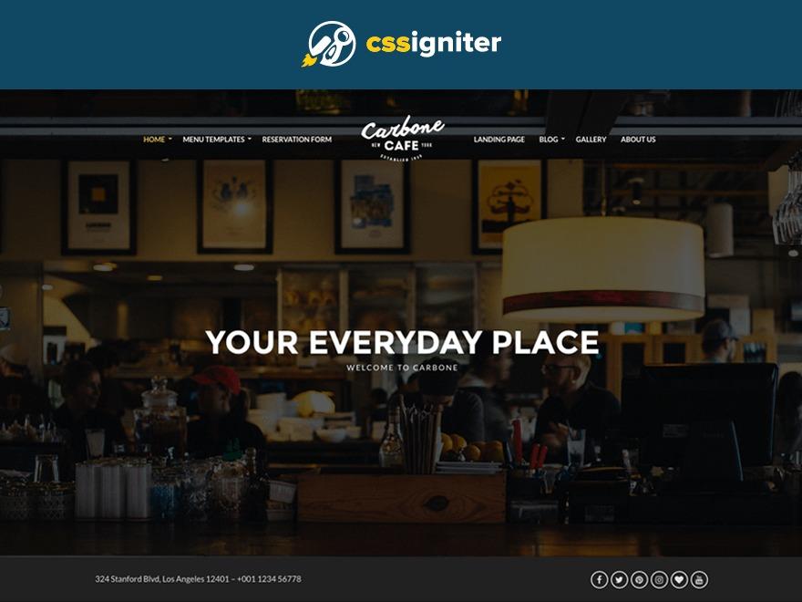 Carbone WordPress restaurant theme