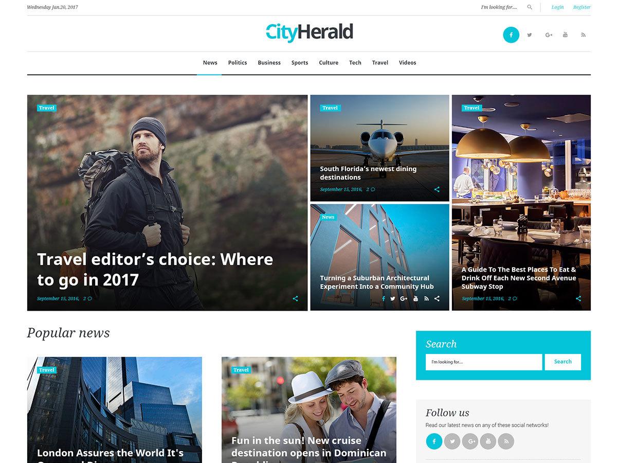 City Herald WordPress blog theme