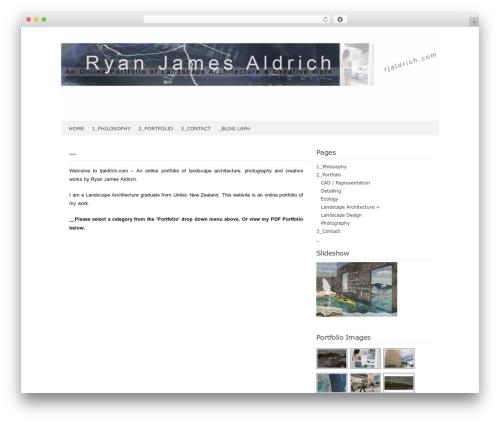 Codium Extend WordPress page template - rjaldrich.com