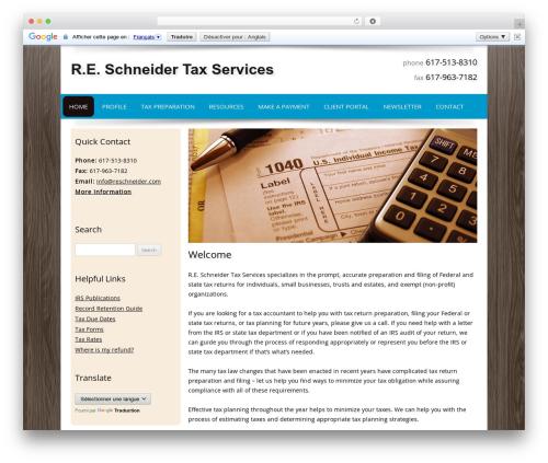 Customized WordPress template for business - reschneider.com