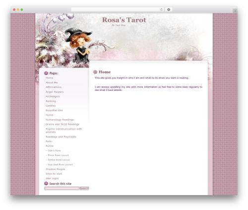 Floral Belle WordPress blog theme - rosa.co.za