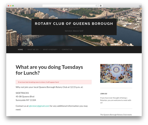 Free WordPress Rescue Shortcodes plugin - queensboroughrotary.org