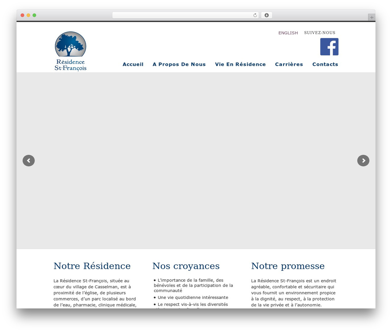Nevada WordPress theme - residencestfrancois.ca