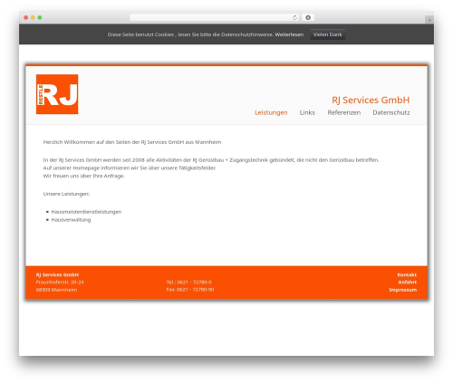 Portal best free WordPress theme - rj-services.de
