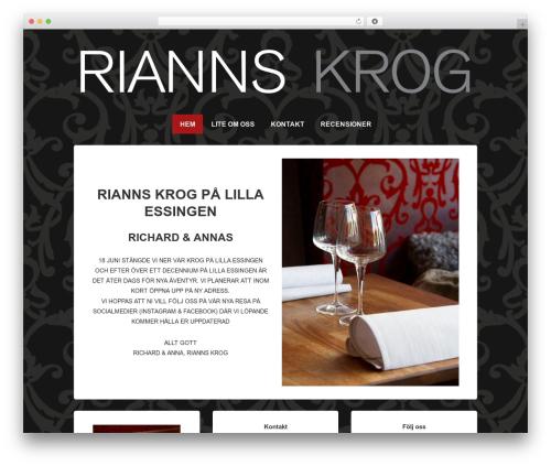 Responsive best free WordPress theme - rianns.se
