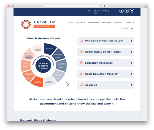 WordPress theme Extra - ruleoflaw.org.au