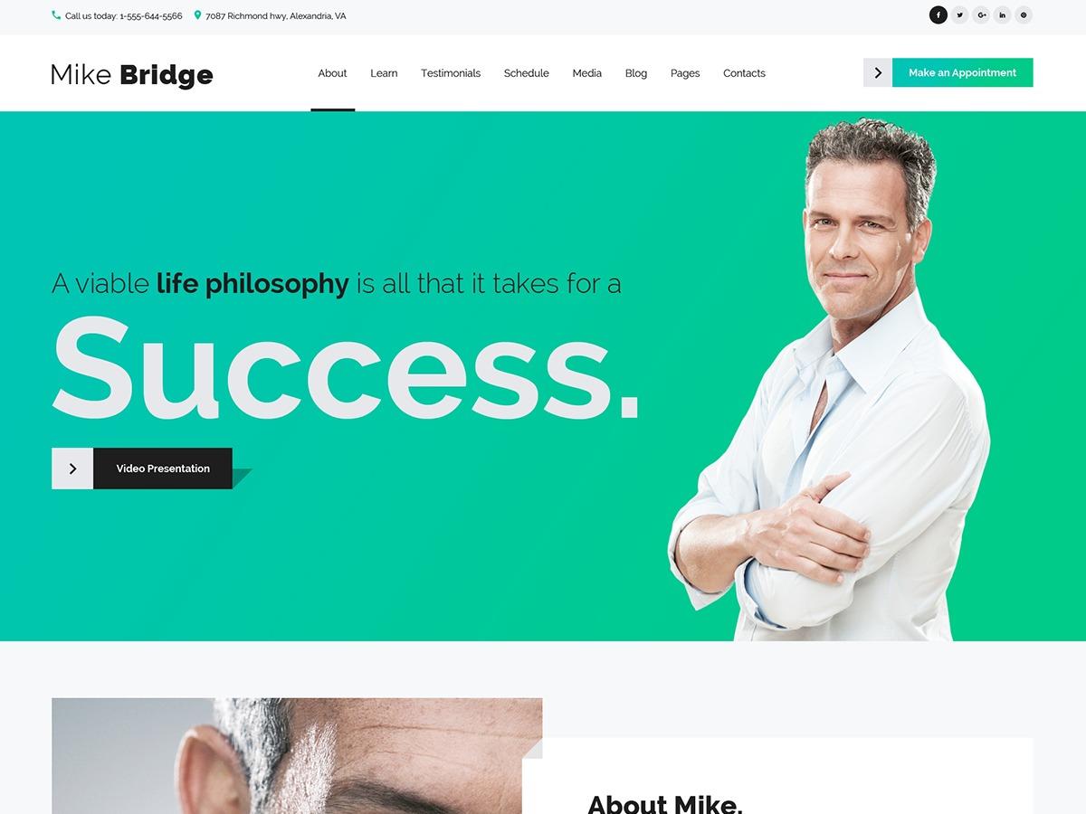 WordPress theme Mikebridge