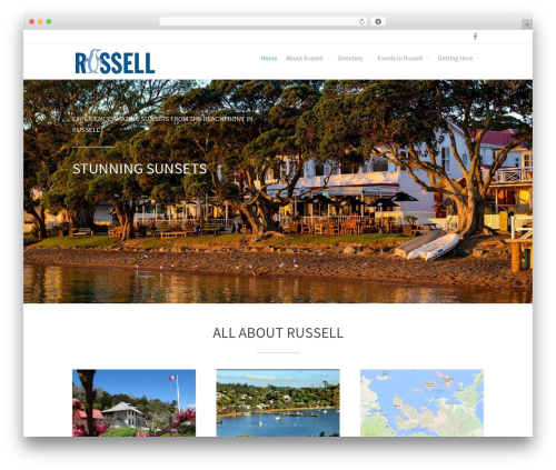 WordPress website template Allegiant Pro - russellnz.co.nz